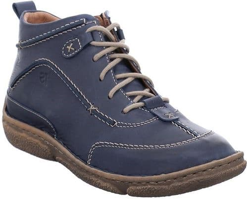 Josef Seibel Neele 52 Ladies Ankle Boots Navy / Blue